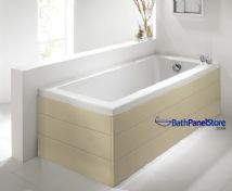 Planked Style Matt Cream 1 Piece Bath Panels